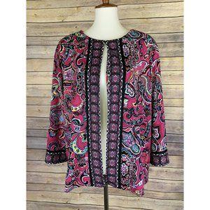 Joan Rivers Plus 2X Floral Paisley Jacket NWOT QVC